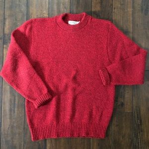 L.L. Bean Red Wool Knitted Sweater